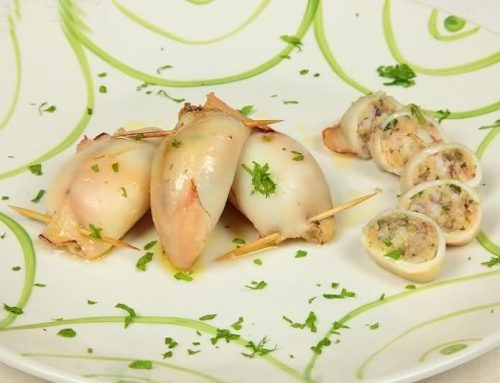 STUFFED SQUID WITH ARANCIO OIL