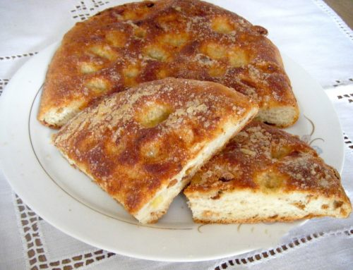 Curried focaccia bread