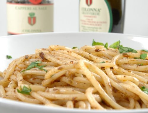 PANTESCA STYLE SPAGHETTI WITH GRANVERDE OIL