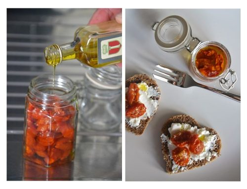 Make your own sun dried tomatoes with basil