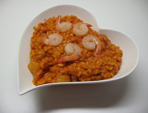 Riso pilaf con gamberi all'Arancio