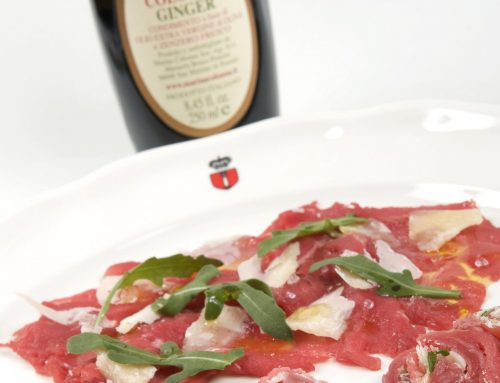 Beef carpaccio with Ginger oil