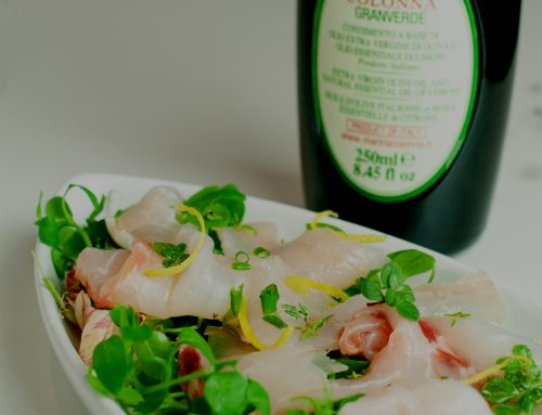 Sea Bass Carpaccio with herbs and Granverde oil