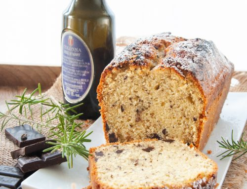 Plumcake con olio Rose of Mary e cioccolato