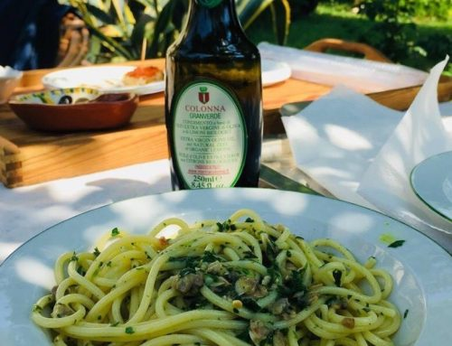 Spaghetti with clams and Granverde oil